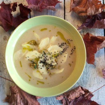 Zupa krem z selera i jabłek