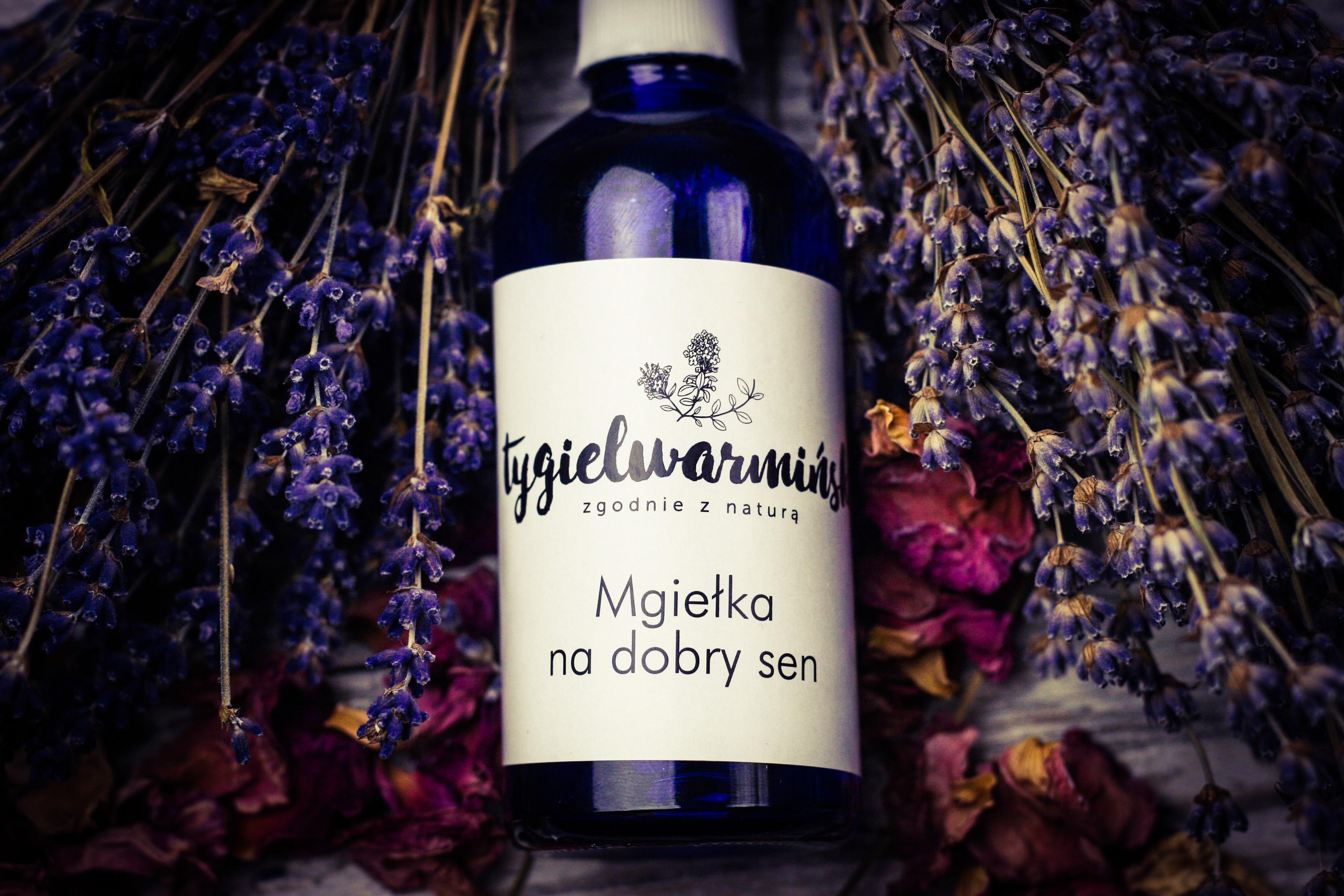 Mgiełka na Dobry Sen aromaterapeutyczny spray ułatwiający zasypianie - Tygiel  Warmiński